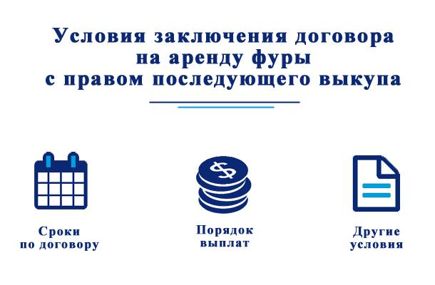 Условия заключения договора на аренду фуры с правом последующего выкупа