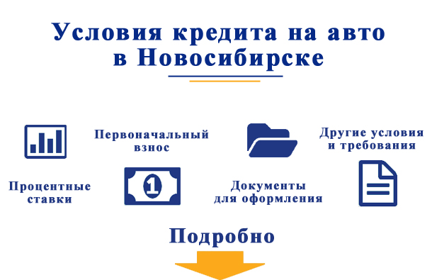 Условия кредита на авто в Новосибирске