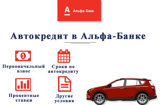 Автокредит в Альфа-Банке условия